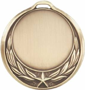 "Antique Finish 2 3/4"" Insert Holder Award Medal"