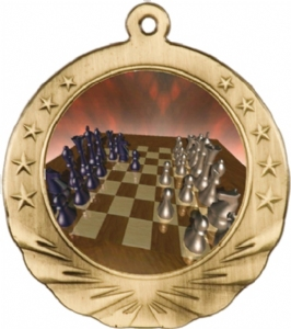 Chess Award Medal with Color Insert