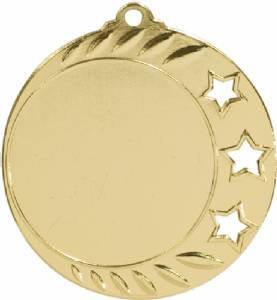 "Bright Finish 1 7/8"" 3 Star Insert Holder Award Medal"