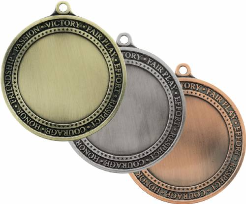 "2 3/4"" Gold Inspire 2"" Insert Holder Medal"