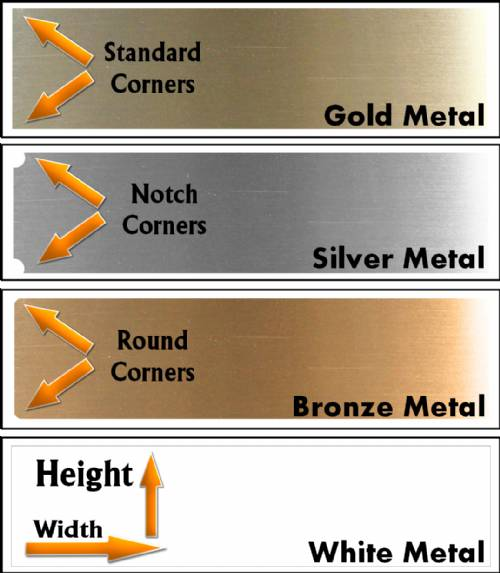 Custom Metal Name Plates Sublimated