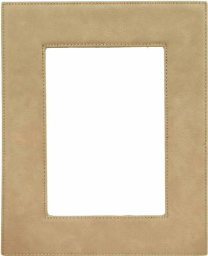 "5"" x 7"" Light Brown Leatherette Picture Frame"