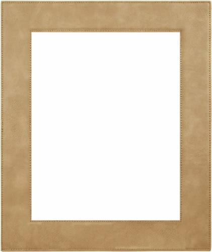 "8"" x 10"" Light Brown Leatherette Picture Frame"