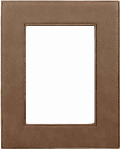 "5"" x 7"" Dark Brown Leatherette Picture Frame"
