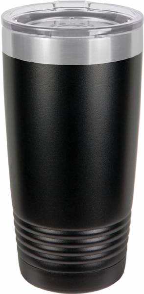 Black 20oz Polar Camel Vacuum Insulated Tumbler & Silver Ring
