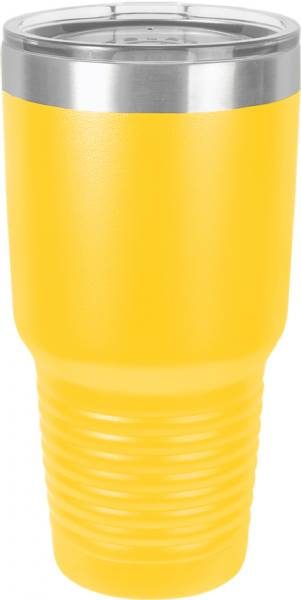 Yellow 30oz Polar Camel Vacuum Insulated Tumbler & Silver Ring
