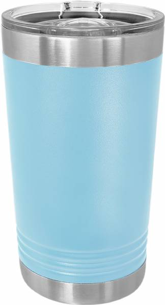 Light Blue 16oz Polar Camel Vacuum Insulated Pint w Slider Lid