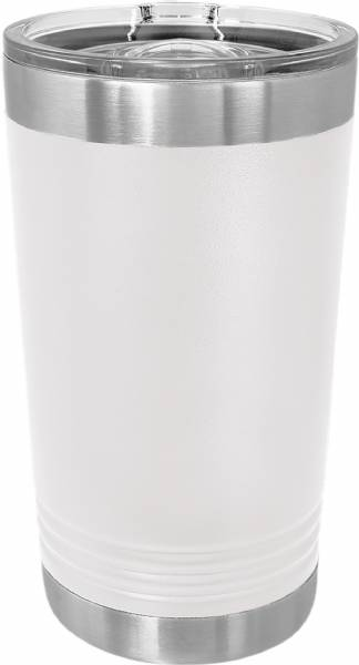 White 16oz Polar Camel Vacuum Insulated Pint w Slider Lid