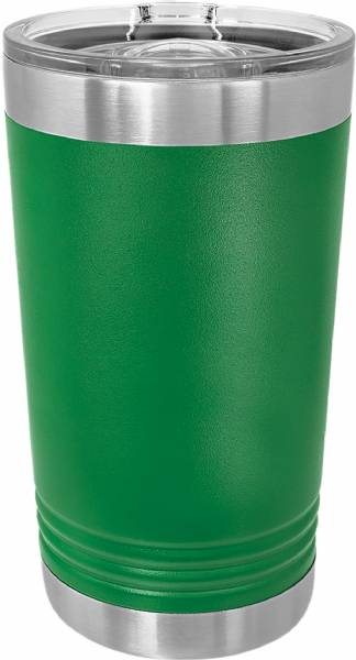Green 16oz Polar Camel Vacuum Insulated Pint w Slider Lid