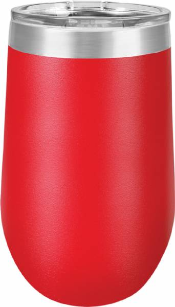 Red 16oz Stemless Polar Camel Vacuum Insulated Tumbler