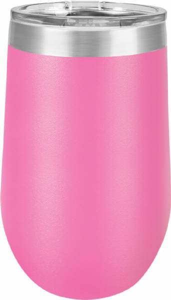 Pink 16oz Stemless Polar Camel Vacuum Insulated Tumbler