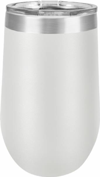 White 16oz Stemless Polar Camel Vacuum Insulated Tumbler