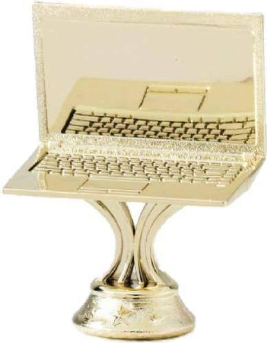 "Gold 3"" Laptop Computer Trophy Figure"