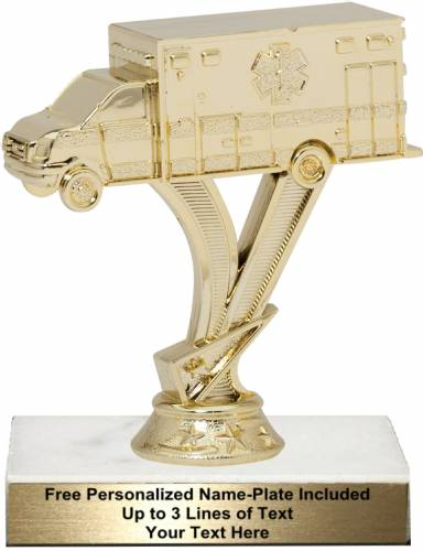 "5 1/4"" Gold Ambulance Trophy Kit"