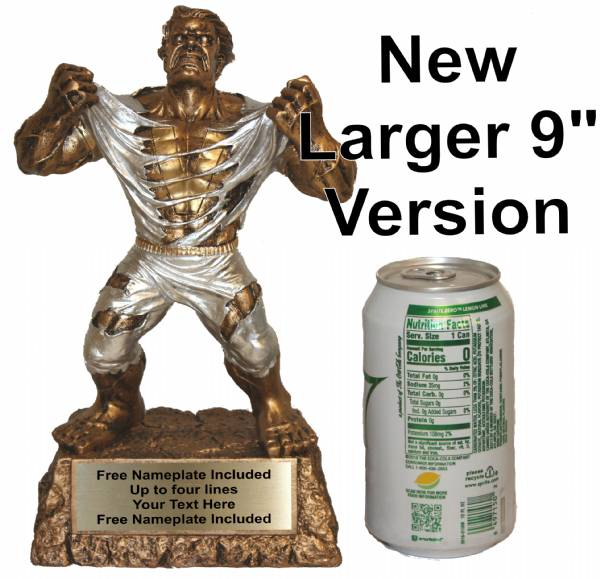 "9"" Large Monster Hand Painted Resin Victory Trophy #2"