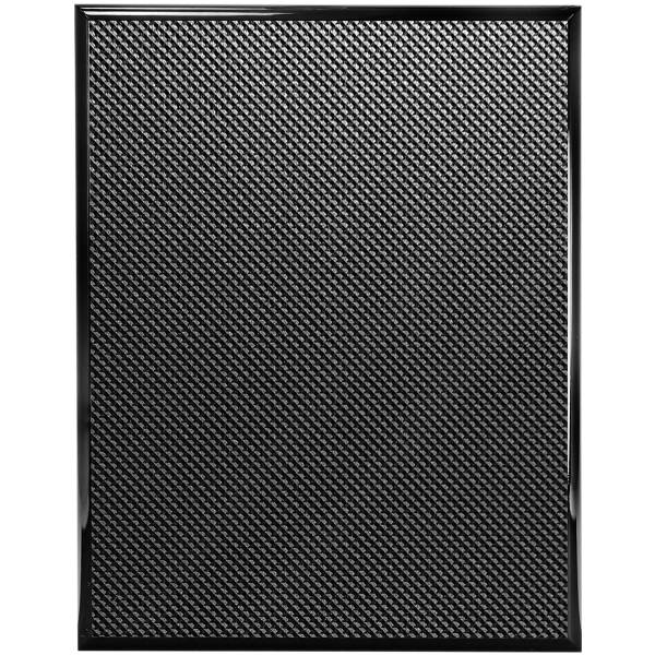 "12"" x 15"" Piano Carbon Fiber Finish Plaque Blank"