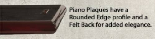 "12"" x 15"" Piano Carbon Fiber Finish Plaque Blank #2"
