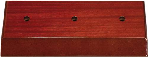 High Gloss Mahogany Finish Slant Front 2-Post Trophy BASE ONLY