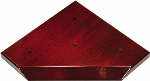 High Gloss Mahogany Finish Slant Front 3-Post Trophy BASE ONLY