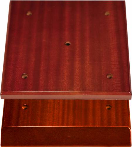 High Gloss Mahogany Finish Slant Front 4-Post Trophy Base and Lid Set