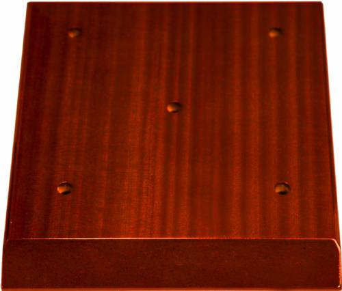 High Gloss Mahogany Finish 4-Post Trophy BASE ONLY