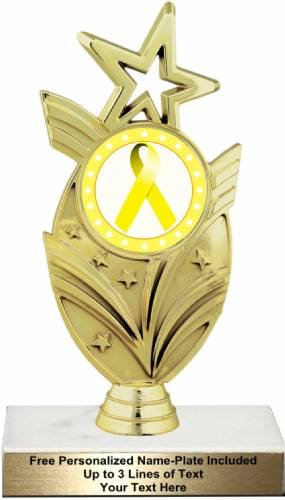 "7 1/2"" Yellow Ribbon Awareness Trophy Kit"
