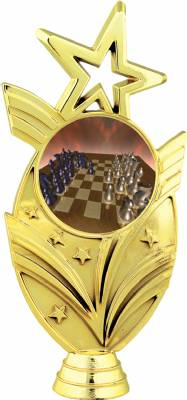"Gold 6 3/4"" Chess Trophy Figure"