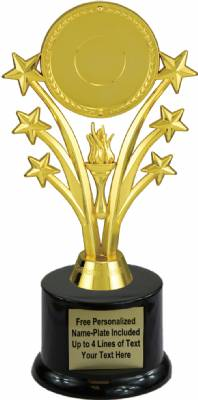 "8"" Star Insert Holder Trophy Kit with Pedestal Base"