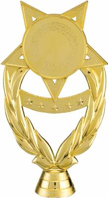 "Gold 6 1/2"" Insert Holder Trophy Figure"