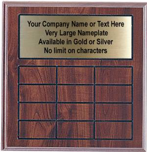Cherry Finish Perpetual Plaque Complete - 12 Plates