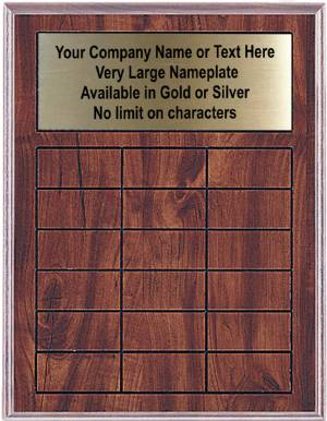 Cherry Finish Perpetual Plaque Complete - 18 Plates