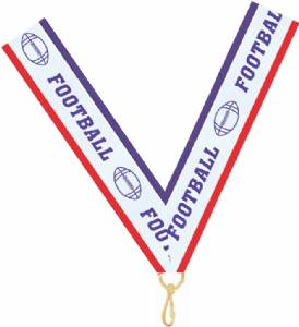 "7/8"" X 32"" Football Neck Ribbon with Snap Clip"