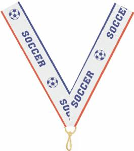 "7/8"" X 32"" Soccer Neck Ribbon with Snap Clip"