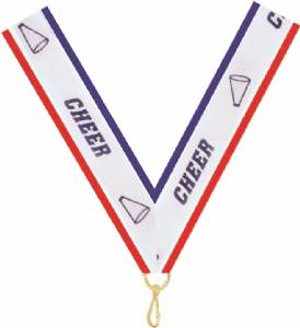 "7/8"" X 32"" Cheer Neck Ribbon with Snap Clip"