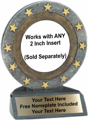 "4.5"" - 2"" Insert Holder All Star Trophy Resin"