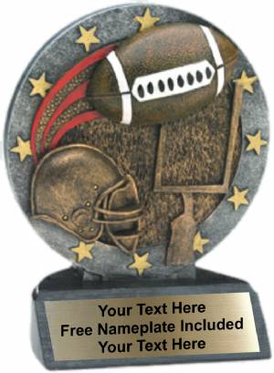 "4.5"" Football All Star Trophy Resin"