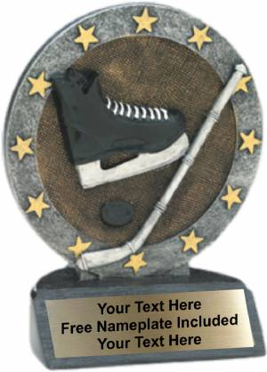 "4.5"" Hockey All Star Trophy Resin"