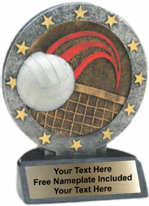 "4.5"" Volleyball All Star Trophy Resin"