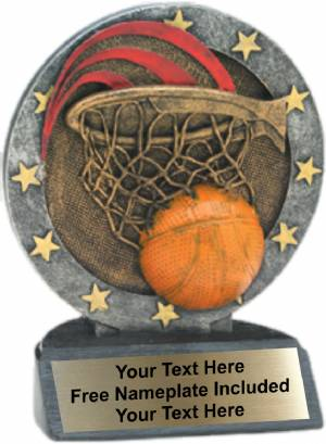 "4.5"" Basketball All Star Trophy Resin"
