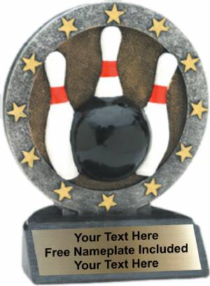 "4.5"" Bowling All Star Trophy Resin"