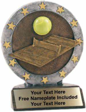 "4.5"" Tennis All Star Trophy Resin"