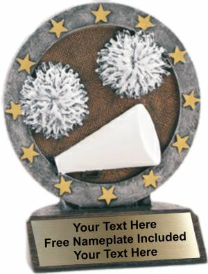 "4.5"" Cheerleading All Star Trophy Resin"