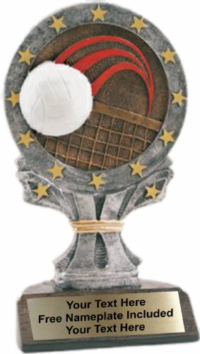 "6.25"" Volleyball All Star Trophy Resin"