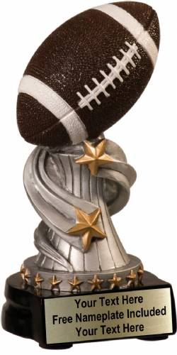 "6"" Football Trophy Encore Series Hand Painted Resin"