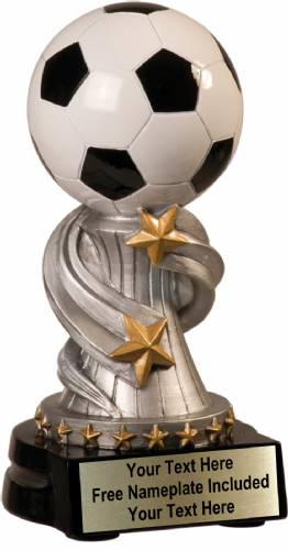 "5 3/4"" Soccer Trophy Encore Series Hand Painted Resin"