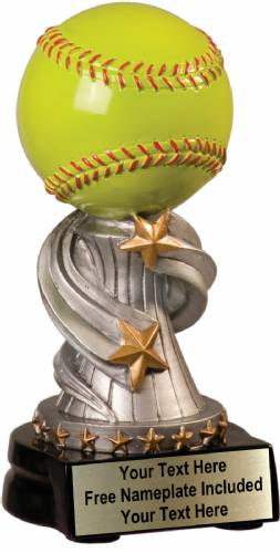 "5 3/4"" Softball Trophy Encore Series Hand Painted Resin"