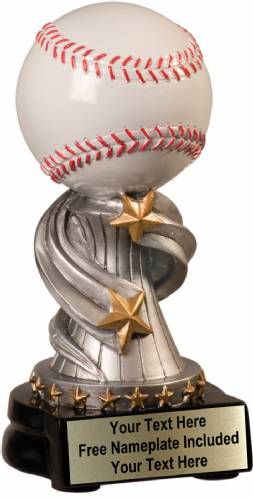 "7"" Baseball Trophy Encore Series Hand Painted Resin"