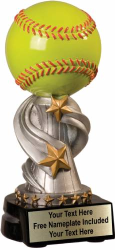 "7"" Softball Trophy Encore Series Hand Painted Resin"