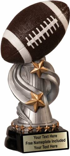 "8 1/2"" Football Trophy Encore Series Hand Painted Resin"