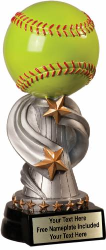 "8 1/2"" Softball Trophy Encore Series Hand Painted Resin"
